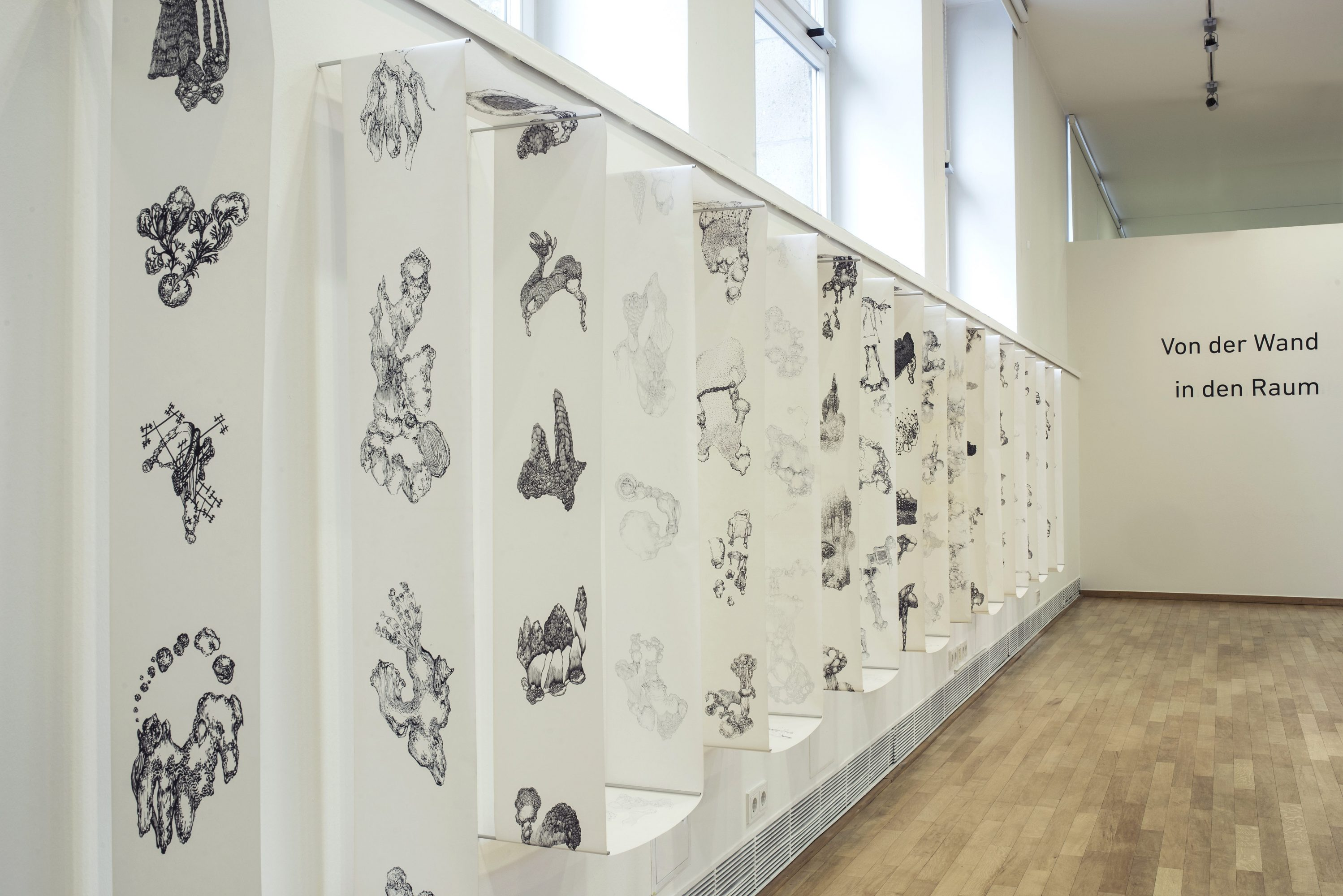 Viktoria Strecker, Ausstellungsansicht, Museumsatelier, Museum Kunstpalast, Düsseldorf, 2018. Foto: Felix Contzen